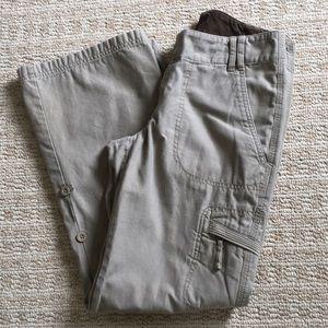 The North Face Khaki hiking pants sz 8